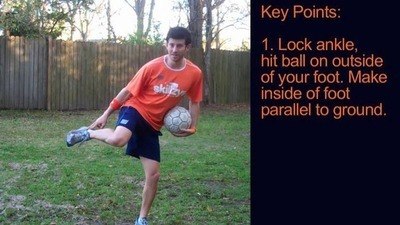 Soccer Tips - Juggle with the Outside of your Foot