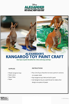 Alexander and the Terrible, Horrible, No Good, Very Bad Day - Kangaroo Toy Paint Craft
