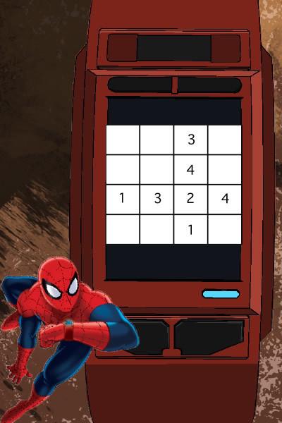 De geheime code van Spidey-sudoku
