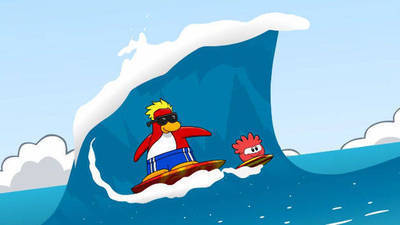 Red Puffle's Cartoon