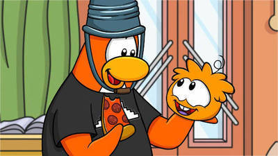 Orange Puffle's Cartoon
