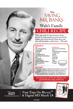 Saving Mr. Banks - Chili Recipe