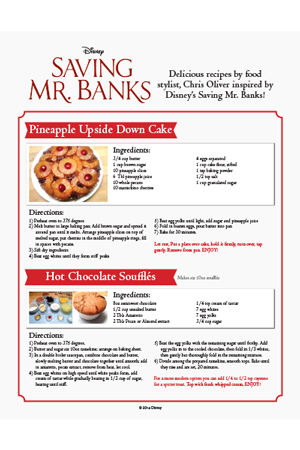 Saving Mr. Banks - Recipes Part 2