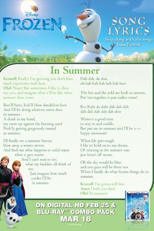 In Summer Song Lyrics