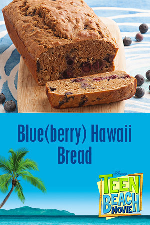 Teen Beach Movie Recipe - Blue(berry) Hawaii Bread