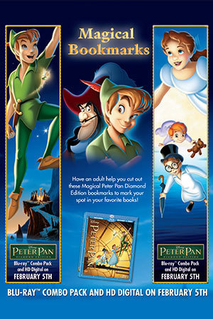Peter Pan Activity: Bookmarks