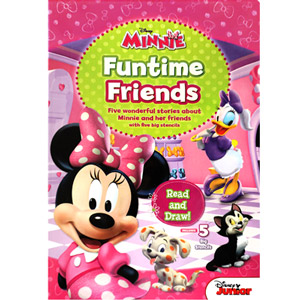 Minnie Funtime Friends Read and Draw with Stencils
