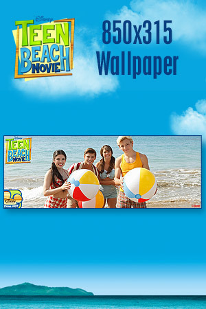 Teen Beach Movie Wallpaper - Beach Balls 850x315
