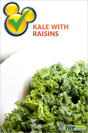 TRYit Recipe - Kale with Raisins