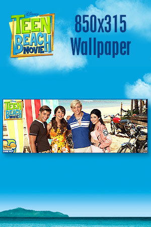 Teen Beach Movie Wallpaper - Bikers vs. Surfers 850x315
