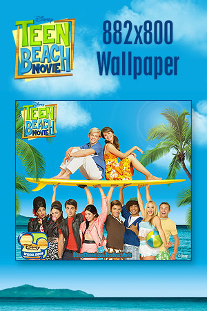 Teen Beach Movie Wallpaper - Key Art 882x800