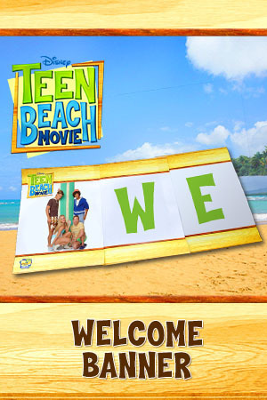 Teen Beach Movie Printable - Banner (Welcome to Big Momma's)