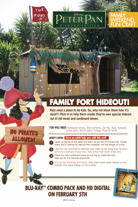 Peter Pan Activity: Family Fort Hideout