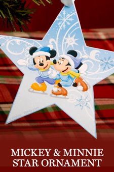 Mickey and Minnie Star Ornament