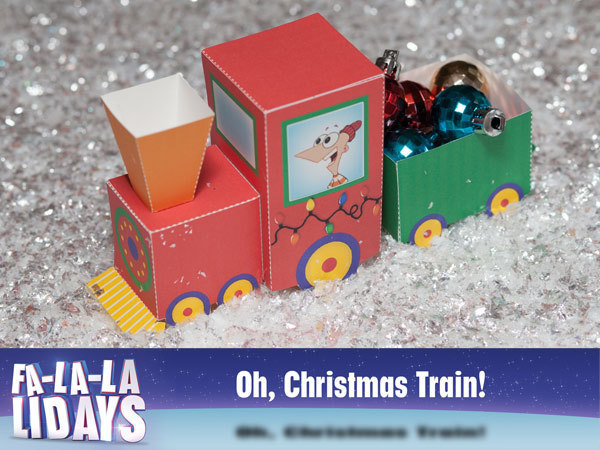 Fa-la-la-lidays: Phineas and Ferb Train