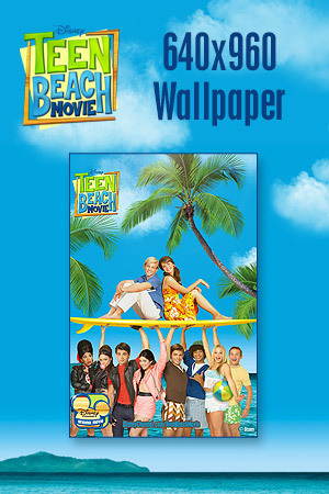 Teen Beach Movie Wallpaper - Key Art 640x960