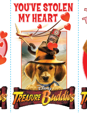 Treasure Buddies Valentines