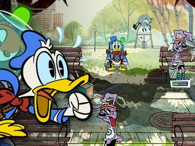 Donald Duck con l'acqua alla gola - Paperino