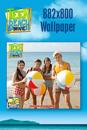 Teen Beach Movie Wallpaper - Beach Balls 882x800