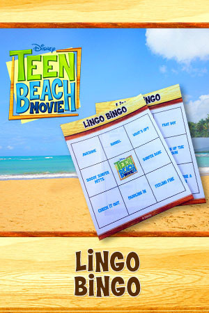 Teen Beach Movie Party Kit - Printable (Lingo Bingo)