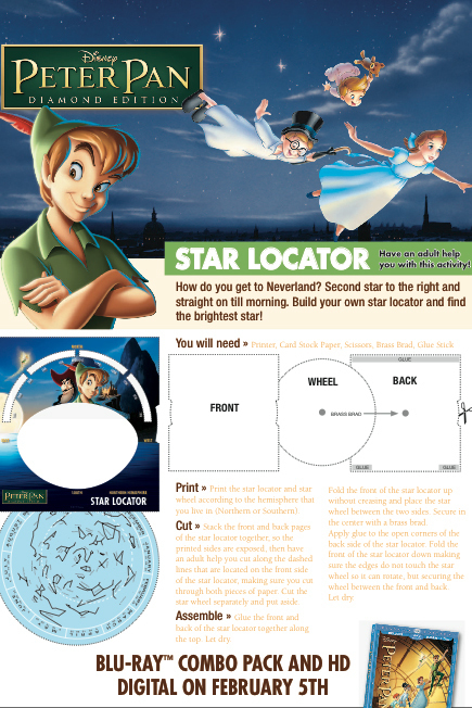 Peter Pan Activity: Star Locator