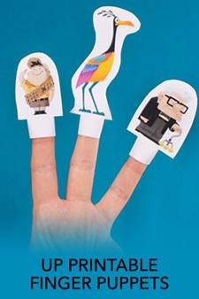 Up Printable Finger Puppet