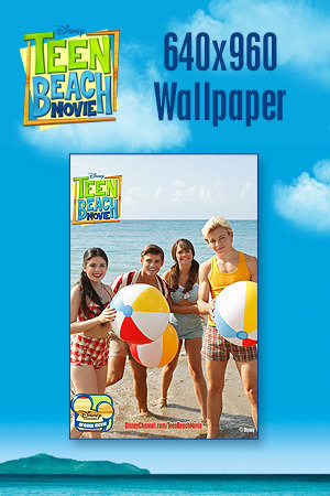 Teen Beach Movie Wallpaper - Beach Balls 640x960