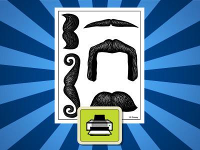 Mustaches Printout