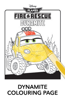 Dynamite Colouring Page