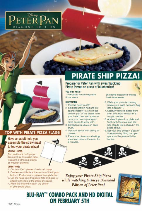 Peter Pan Activity: Pirate Ship Pizza