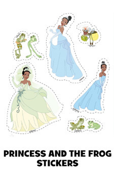The Princess and the Frog Stickers