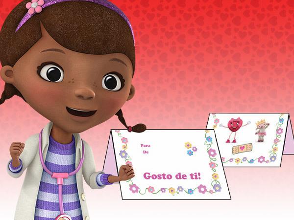 Cartão de São Valentim da Doutora Brinquedos