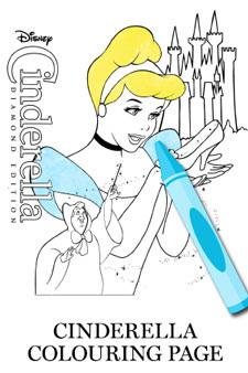 Cinderella Colouring Page