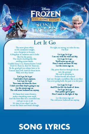 Let It Go Song Lyrics