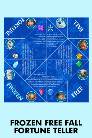 Frozen Free Fall Fortune Teller
