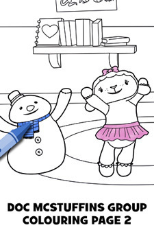 Doc McStuffins Character Colouring Page