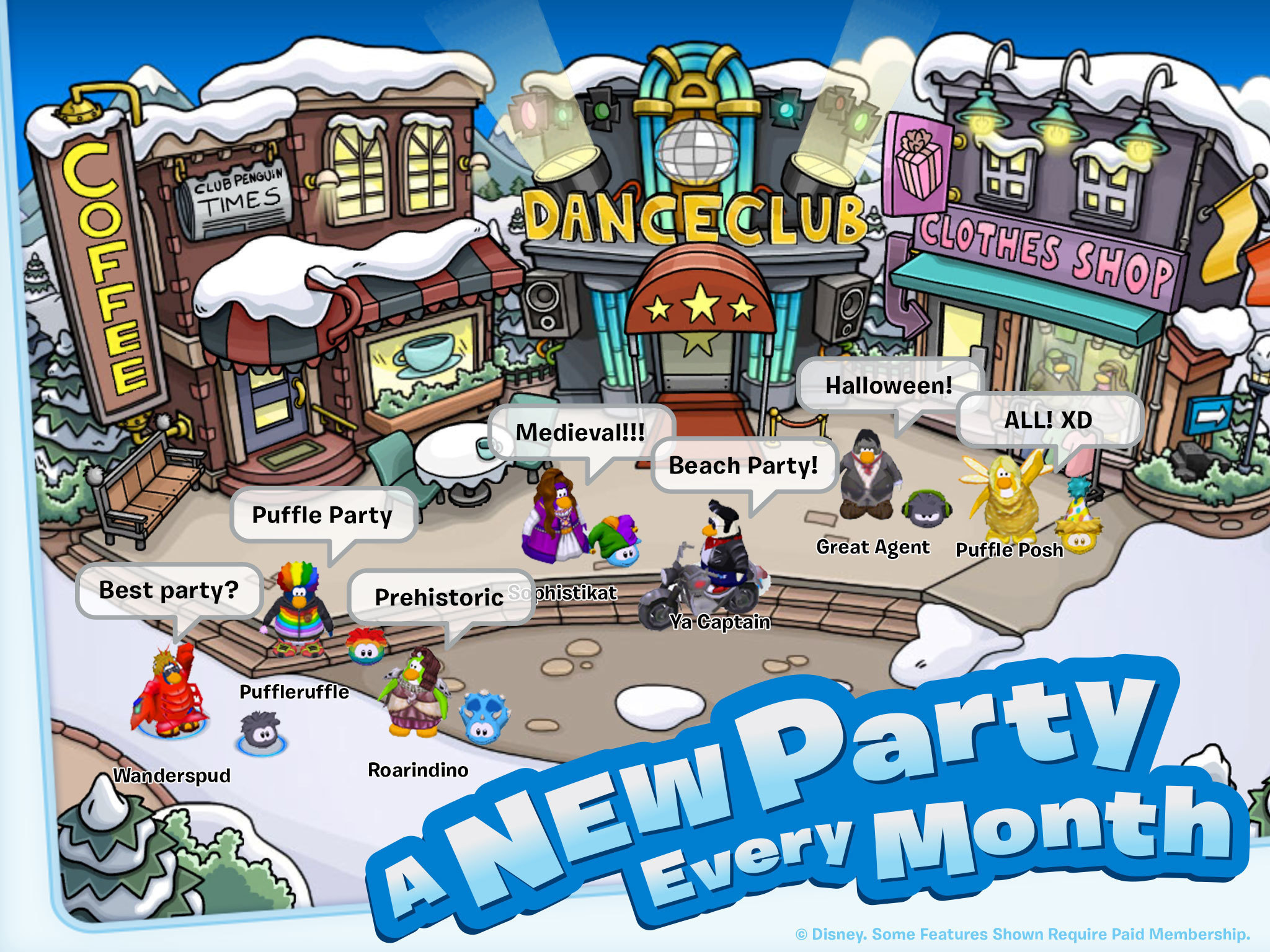 Club Penguin App Gallery