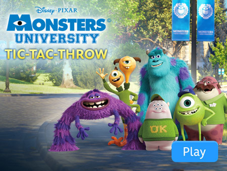 Monsters University - Tic Tac Throw