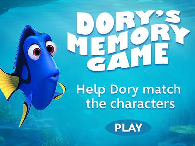 Finding Nemo: Dory's Memory Game