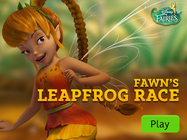Disney Fairies - Fawn's Leap Frog Race