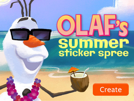 Olaf's Sticker Book
