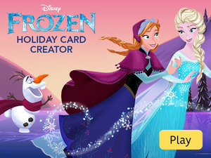 Disney Frozen Holiday Card Creator