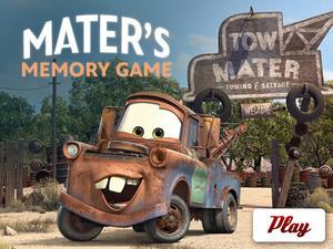 Cars 2 - Mater's Memory Game