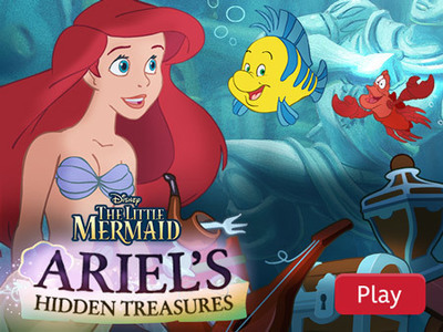 little mermaid hidden treasure