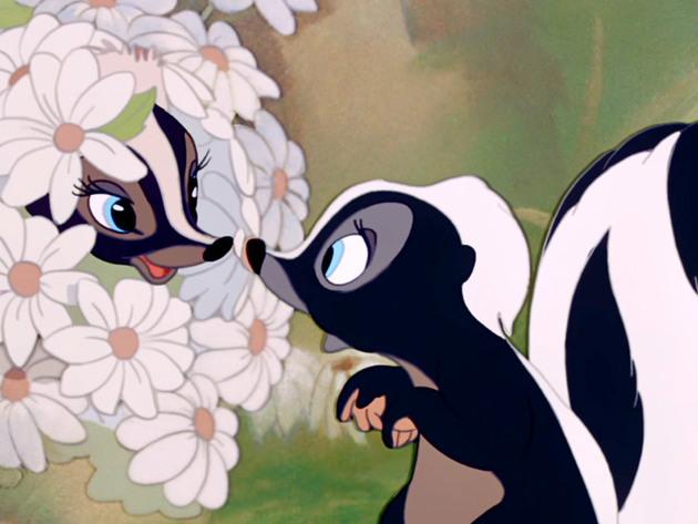 Flower falls in love.