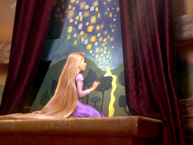 Rapunzel believes in her dream and wants to show the world that it can come true.