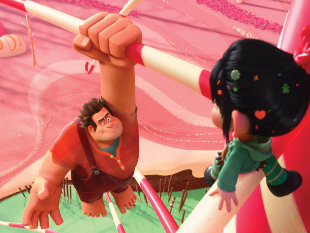 Ralph gets to know his new friend Vanellope.