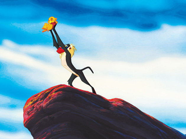 Rafiki displays Simba to the rest of the jungle.