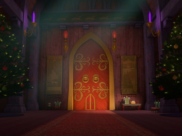 Nestled deep within santa's lodge, this quiet, secure retreat serves as the big guy's private san...