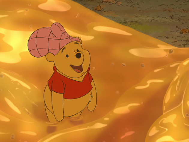 This is what happy Pooh Bear looks like.